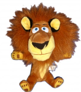 Peluche doudou LION Alex MADAGASCAR Dreamworks Big headz H 24 cm