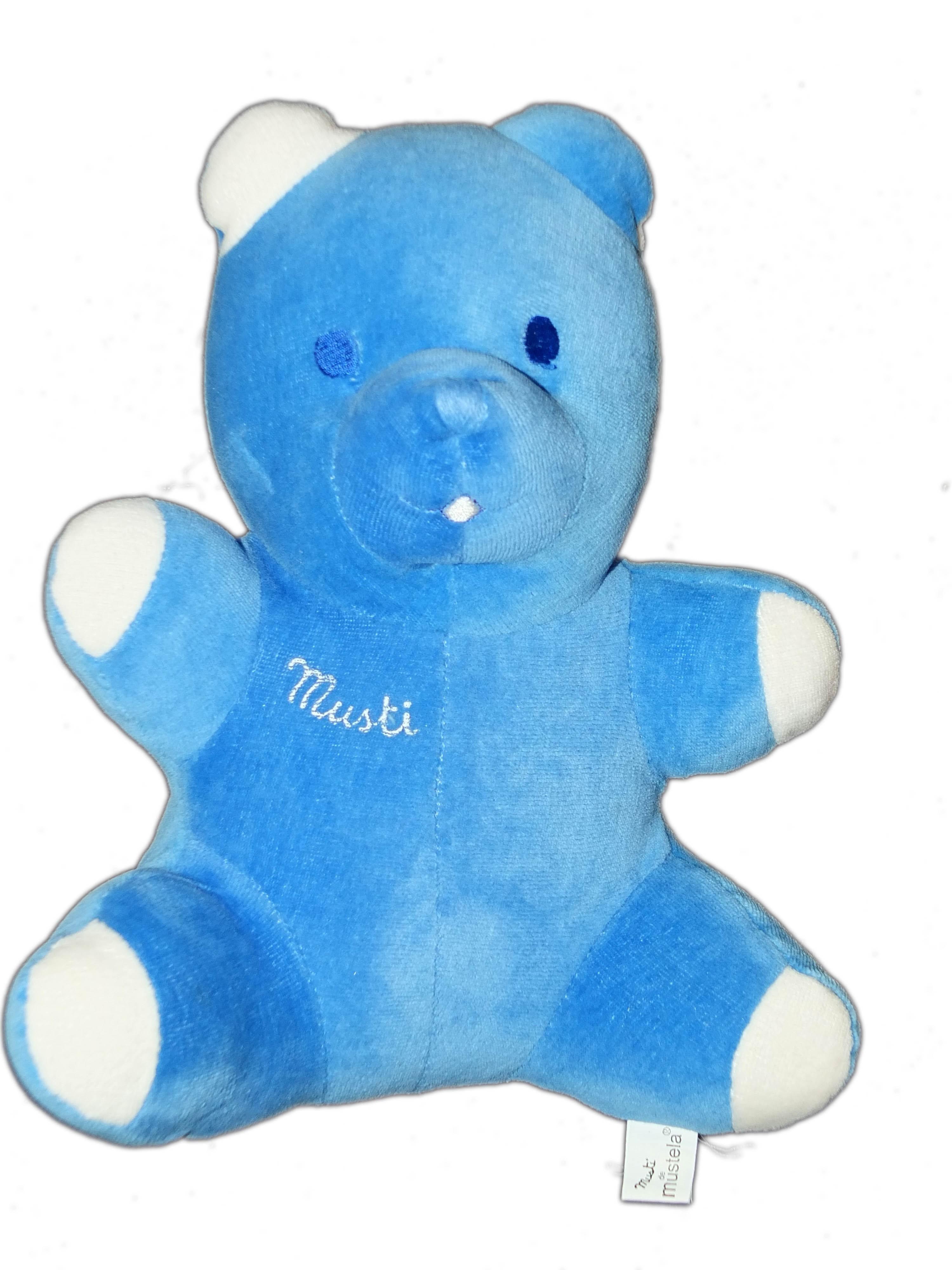 Bleu Doudou Ours Musti