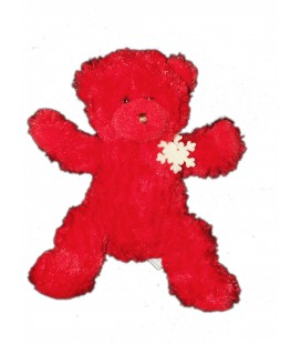 Peluche doudou Ours Rouge Flocon - BEAUTY SUCCESS 2008