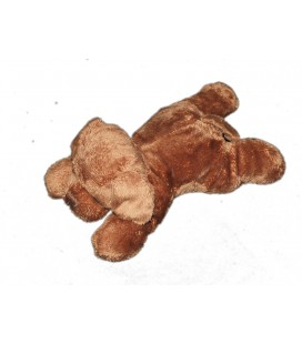 Peluche Doudou chien marron MAX & SAX Carrefour 20 cm