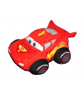 Peluche Doudou Voiture Flash Mc Queen CARS Disney Pixar - 20 cm - Simba Dickie 8641