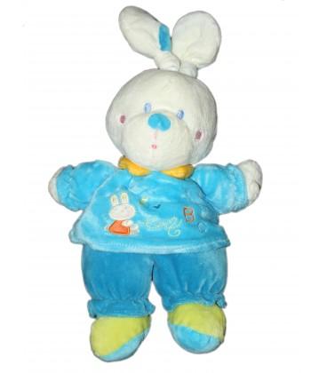 Doudou Peluche Lapin bleu ABC - NICOTOY - 579/5600 - 32 cm
