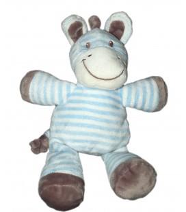 Peluche doudou Zèbre bleu blanc gris Vêtir 26 cm 579/7433