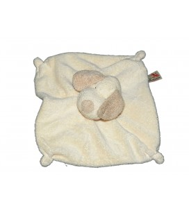 Doudou plat Chien beige crème The Baby Collection by Nicotoy