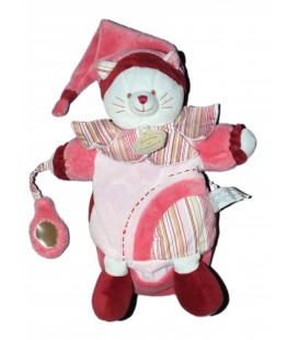 Doudou et Compagnie - Marionnette - Chat rose Minouchette