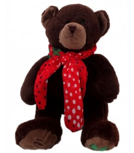 Doudou peluche ours brun MARIONNAUD Lolita Lempicka 36 cm avec Foulard