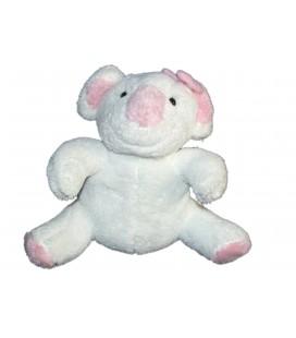 Doudou peluche Koala blanc rose Bebisol 24 cm