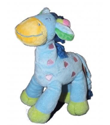 Doudou Peluche Girafe Bleue Nicotoy 22 cm 579/5150