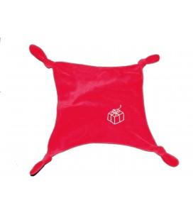 Doudou plat mouchoir rouge Vertbaudet Cadeau 4 noeuds
