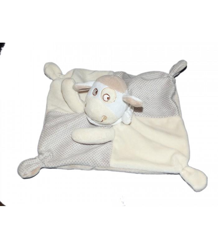 Doudou Plat Mouton #11: Doudou Plat Mouton Beige Pois MOTS Du0027ENFANTS