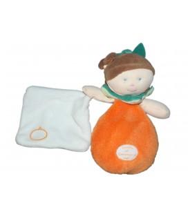 Doudou et Compagnie - Douillette Les Demoiselles Mlle orange 17 cm DC2544