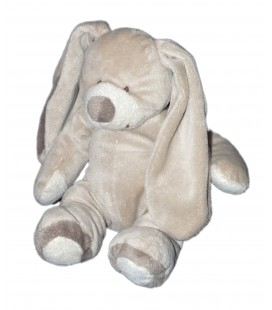 Doudou peluche LAPIN beige MAXITA - H 17/22 cm