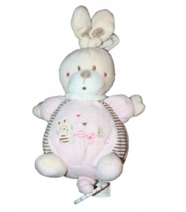 Doudou peluche musicale LAPIN rose NICOTOY Simba ABC H 30 cm