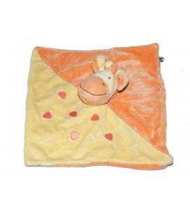 Doudou plat GIRAFE jaune orange MOTS D'ENFANTS Siplec Leclerc 579/5821
