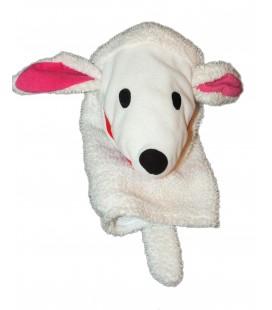 Peluche Doudou Marionette Mouton agneau Caniche Chien blanc - White Klappar Lantlig Plush - IKEA - H 32 cm