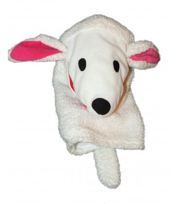 Peluche Doudou Marionette Mouton agneau Chien blanc - White Klappar Lantlig Plush - IKEA - H 32 cm
