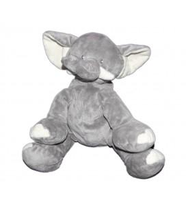 Doudou Peluche Elephant gris BENGY Amtoys 2006 assis 22 cm