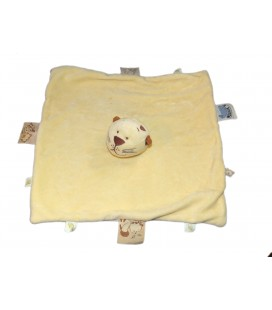 Doudou plat Tigre chat Puma jaune Noukies ** Voir description