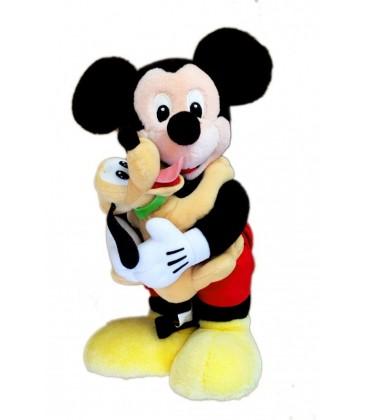 Peluche Mickey et PLUTO Disneyland Euro Disney 36 cm Vintage