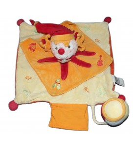 DOUDOU ET COMPAGNIE - Clown orange jaune Do Re Mi
