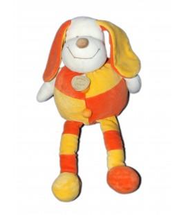 DOUDOU ET COMPAGNIE - Doudou chien PATOU orange jaune - H 34 cm