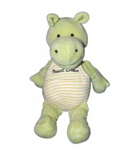 Doudou Hippopotame vert Bout'chou Baby Nat' 28 cm