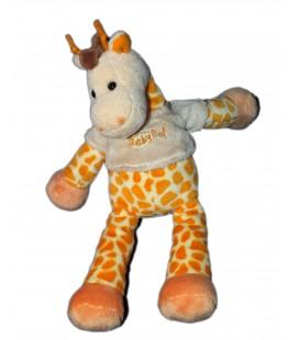 Doudou Peluche Girafe orange Baby Nat' 28 cm