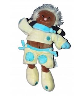 Doudou Fille Esquimau jaune bleu Baby Nat' 25 cm
