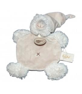 Doudou plat ours gris Croix Bonnet Baby Nat'