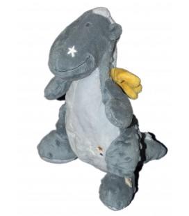 Peluche doudou Dragon bleu VICTOR et LUCIEN - NOUKIES Noukie's H 26 cm 8879