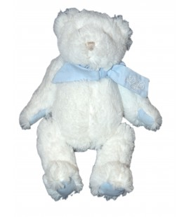 DOUDOU ET COMPAGNIE - Ours blanc bleu Mon tout Petit 25 cm DC2341
