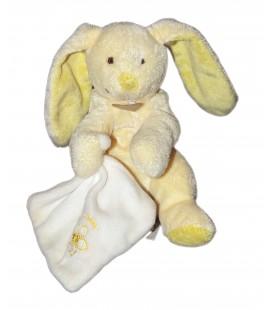 DOUDOU ET COMPAGNIE - Lapin jaune Mouchoir Blanc Mon doudou 13 cm