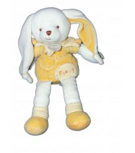 DOUDOU ET COMPAGNIE - Lapin blanc jaune Flapy 26 cm