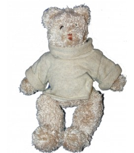 Doudou Peluche Ours Basile et Lola Moulin Roty 32 cm Pull Col roulé