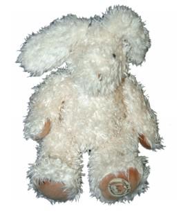 Doudou Peluche Lapin blanc écru beige Les Lapins Moulin Roty 26 cm