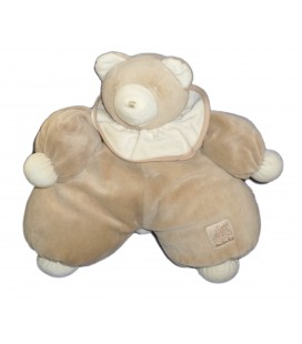 Doudou Ours beige Collerette Moulin Roty 38 cm Grelot