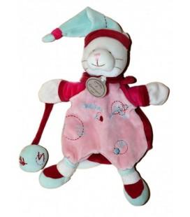 DOUDOU ET COMPaGNIE - Marionnette Catchou CHaT rose Bordeaux Bonnet Balle