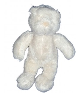 Doudou Ours blanc Basile et Lola Grelot MOULIN ROTY 20 cm