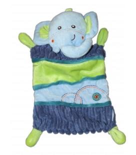 Doudou plat Elephant bleu vert NICOTOY Simba 570/0024