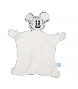 Doudou plat blanc Mickey Eponge Le Petit Donaldson 25 cm