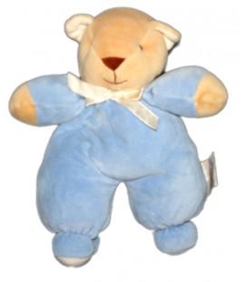 Doudou Ours bleu beige 24 cm Noukies Noukie' Grelot