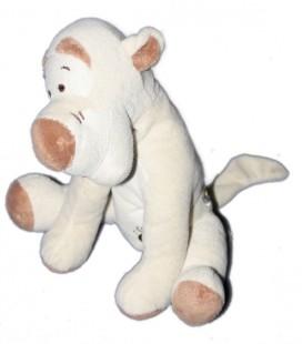 Doudou TIGROU écru blanc crème beige Disney Baby Simba 578/5840 Papillon vert 20 cm