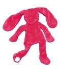 Doudou LAPIN rouge Framboise DPAM - Du Pareil au Meme - 32 cm