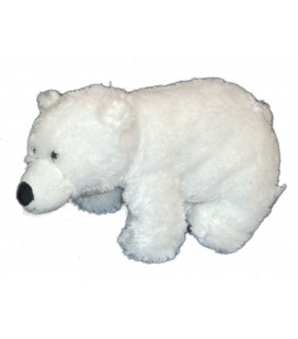 Peluche Ours blanc MARIONNAUD H 32 cm - Ultra douce
