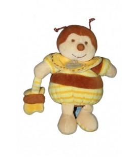 DOUDOU ET COMPaGNIE - BOURDON abeille Ponpon Z'amigolos Papillon 18 cm