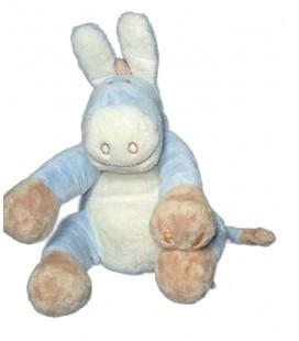Doudou Peluche ANE bleu Paco Noukies Epis de ble 22 cm