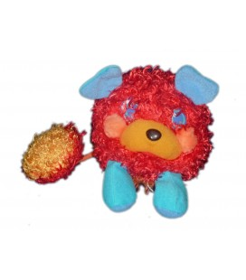 Peluche POPPLES Boule Puffling rouge orange 2007