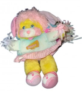 VINTAGE Peluche POPPLES Pom Pom Girl 1987 MATTEL 28 cm ** VOIR DESCRIPTION AVANT ACHAT!**