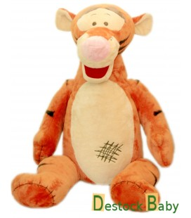 Doudou peluche TIGROU Toute douce - Carré griffure rectangle Zig zag marron - Couture - 32 / 45 cm Disney Nicotoy