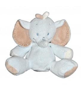 Doudou peluche Elephant bleu beige NATTOU Assis 22 cm